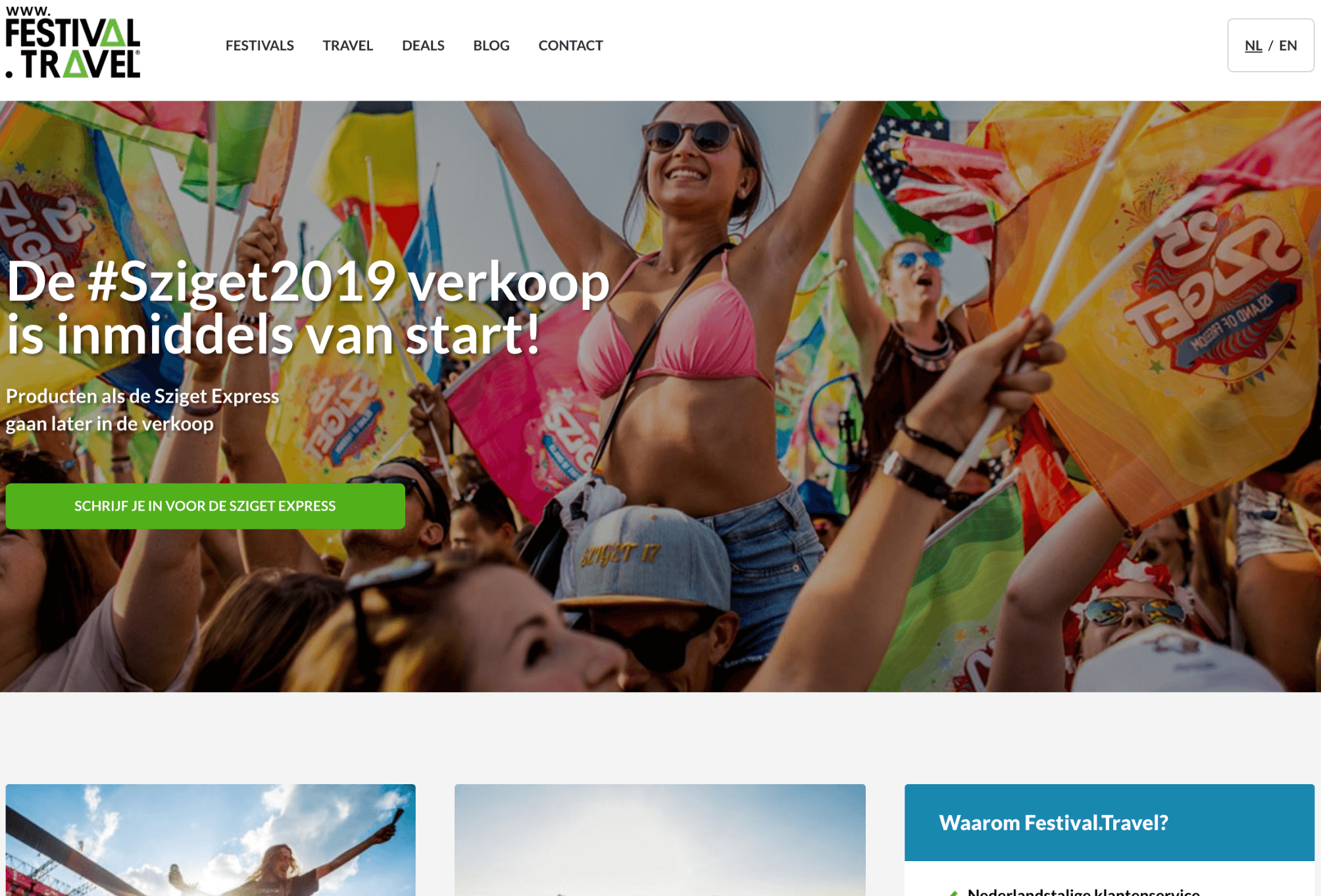 Festival Travel website